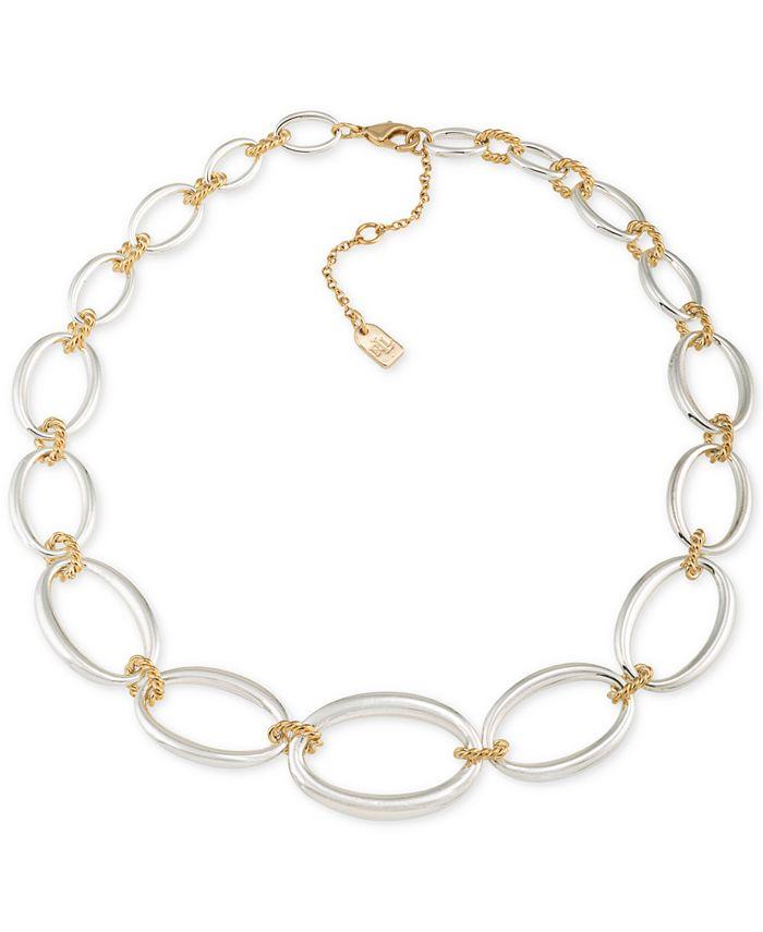 Lauren Ralph Lauren - Two-Tone Large Link Collar Necklace
