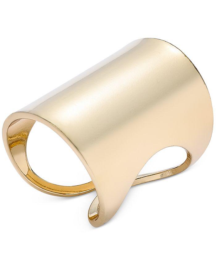 Thalia Sodi - Polished Rectangular Statement Ring