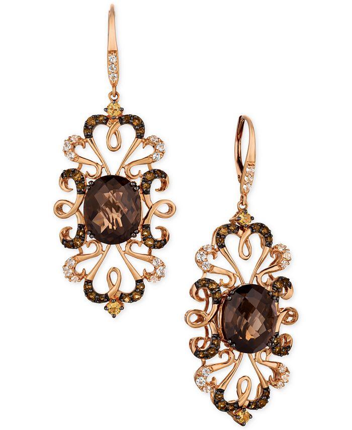 Le Vian - Multi-Gemstone Drop Earrings in 14k Rose Gold