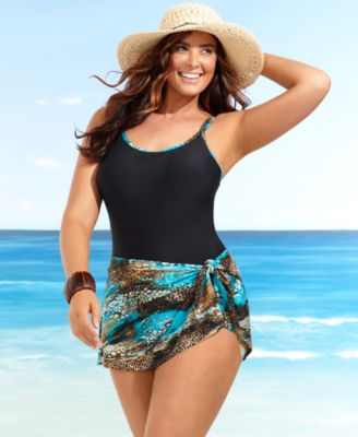 Christina Plus Size Swimsuit, One Piece Bathing Suit