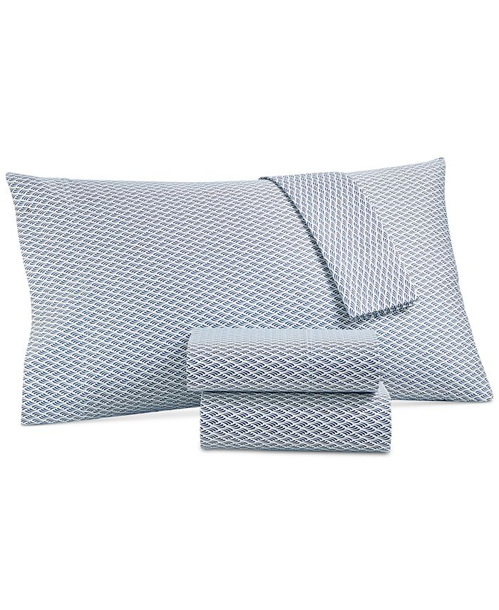 Charter Club - Damask Designs 550 Thread Count Printed Wrinkle-Resistant Extra-Deep Queen Sheet Set
