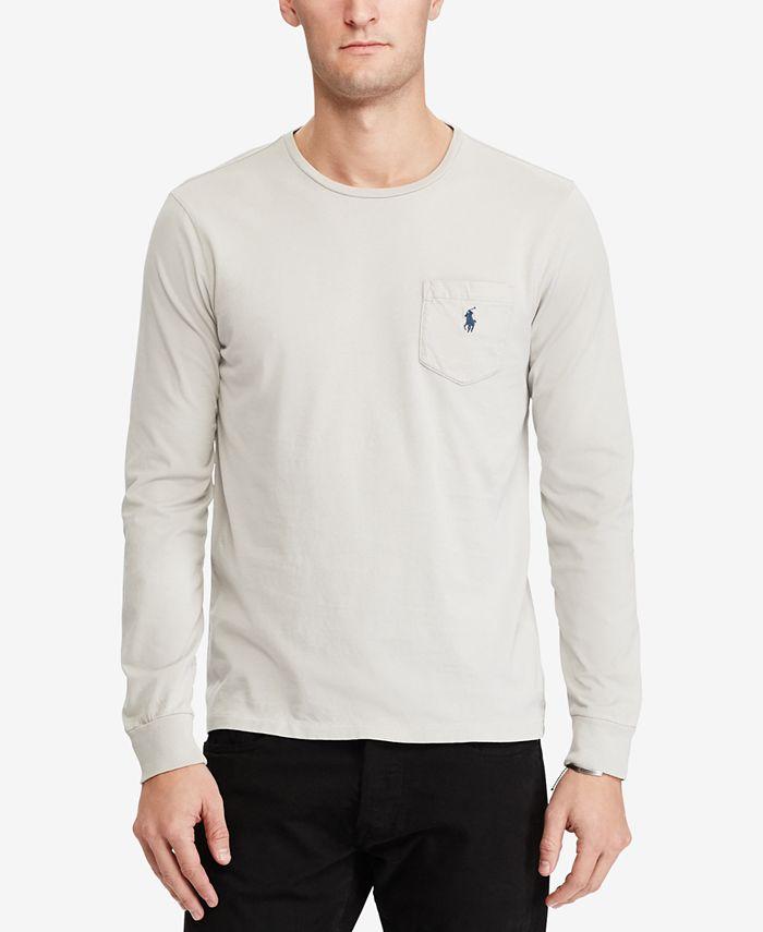 Polo Ralph Lauren Men's Custom Slim Fit Long-Sleeve T-Shirt ...