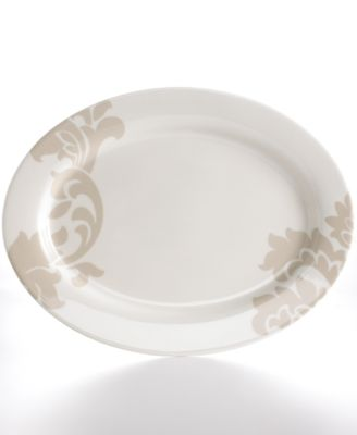 Martha Stewart Collection Lisbon Gray Oval Platter