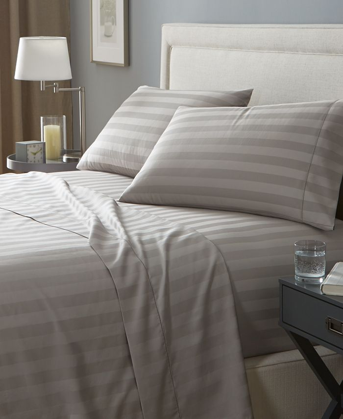 Charter Club Stripe Open Stock 100 Supima Cotton 550 Thread Count Sheets Created For Macy S Reviews Home
