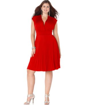 Soprano Plus Size Cap-Sleeve Pleated Empire Dress, Macy's  $43.99