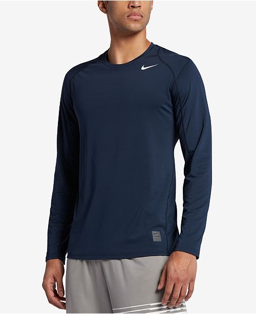 Nike Men's Pro Cool Dri-FIT Fitted Long-Sleeve Shirt ...