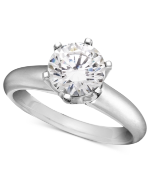 Diamond Ring, 18k White Gold Diamond Solitaire Engagement (1-1/2 ct. t.w.)
