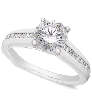 Diamond Ring, 18k White Gold Diamond Solitaire Engagement (1-1/3 ct. t.w.)
