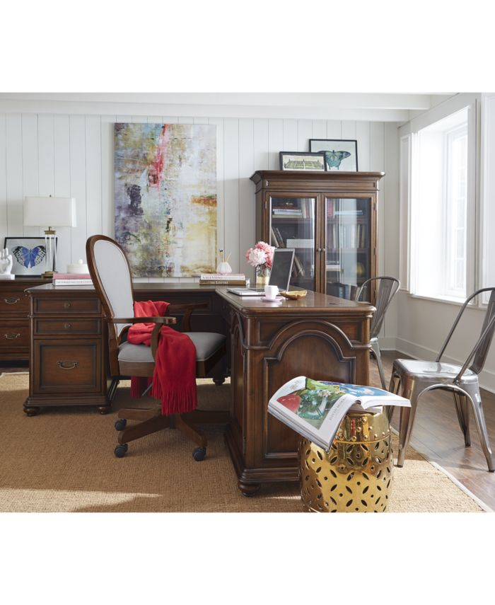 Furniture Clinton Hill Cherry Home Office Door Bookcase & Reviews - Furniture - Macy's