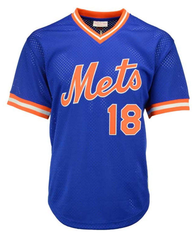 Mitchell & Ness Men's Darryl Strawberry New York Mets Authentic Mesh Batting Practice V-Neck Jersey  & Reviews - Sports Fan Shop By Lids - Men - Macy's