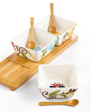 Vida by Espana Dinnerware, Jardine 7 Piece Condiment Set