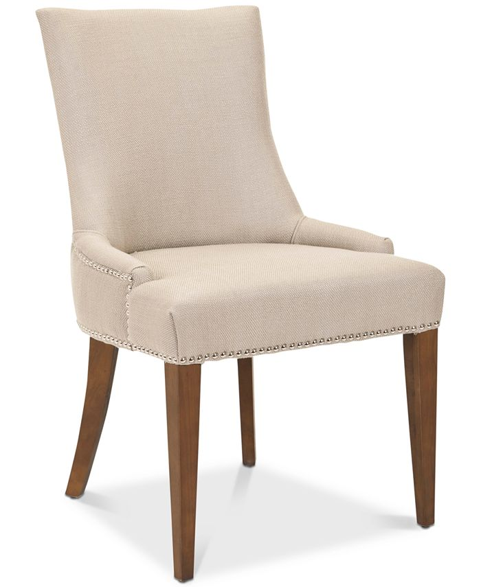Safavieh - Becall 20''H Linen Dining Chair, Quick Ship
