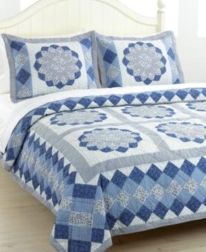 Blue Dahlia Full/Queen Quilt Set Bedding