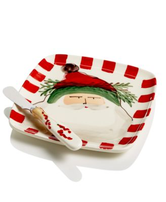 Old St. Nick 2-Pc. Square Plate Set With Spreader
