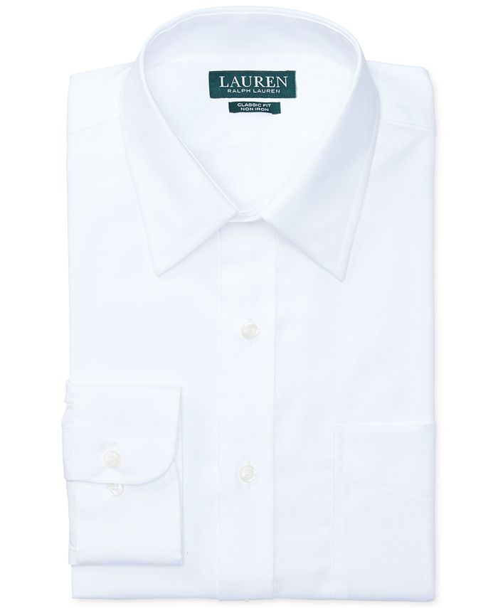 Lauren Ralph Lauren - Lauren by Ralph Lauren Dress Shirt, Fitted White Twill