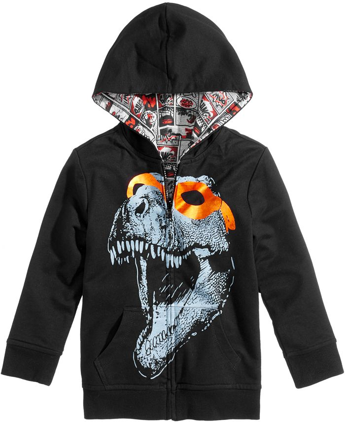Epic Threads - Dino-Print Hooded Jacket, Toddler & Little Boys (2T-7)