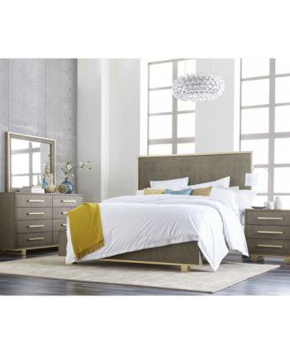 Petra Shagreen Bedroom Furniture, 3-Pc. Set (Queen Bed, Dresser & Nightstand)