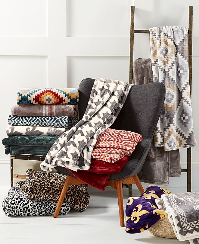 Charter Club CLOSEOUT! Cozy Plush Throw, Created for Macy's