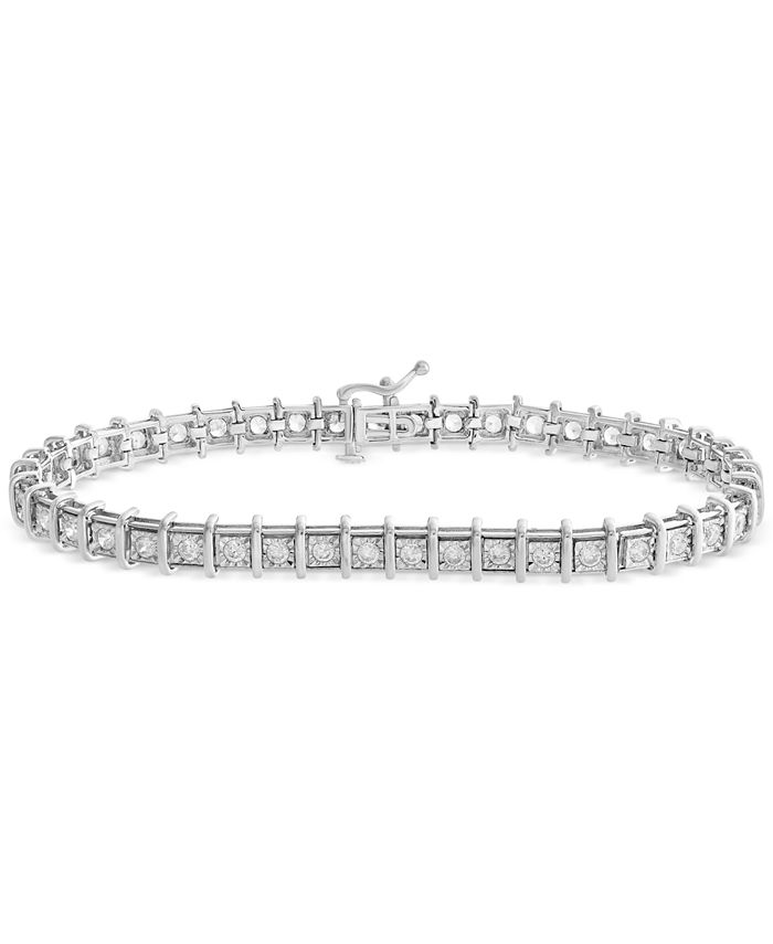 Macy's - Diamond Tennis Bracelet (2 ct. t.w.) in 14k White, Rose Gold or Yellow Gold