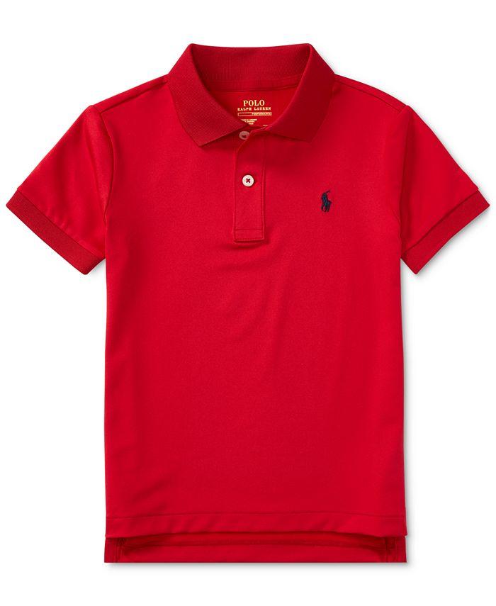 Toddler Boys Moisture-wicking Tech Jersey Polo Shirt