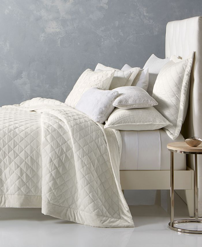 Hotel Collection - Trousseau Cotton Quilted Full/Queen Coverlet