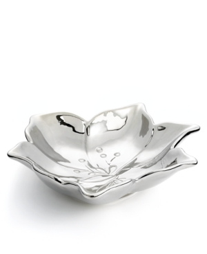 Laurie Gates Serveware, Lily Metallic Floral Serving Bowl