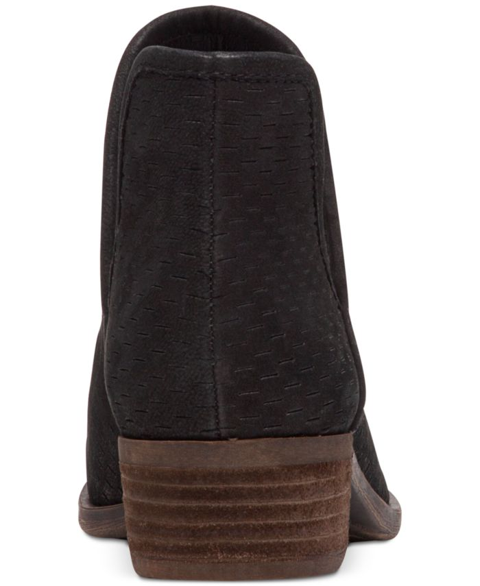 Lucky Brand Baley Perforated Chop Out Booties  & Reviews - Boots - Shoes - Macy's