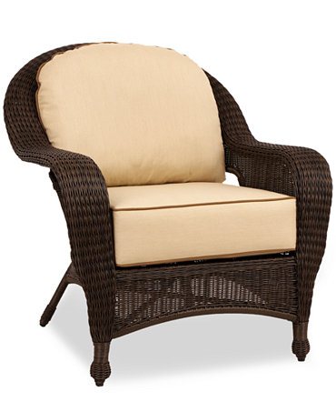 Commacys Outdoor Furniture : Monterey Wicker Outdoor Lounge Chair - Furniture - Macys
