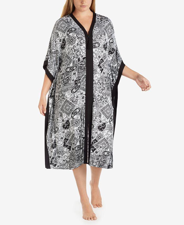Ellen Tracy - Plus Size Wide-Sleeve Printed Caftan