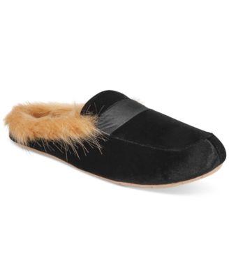 I.N.C. Faux-Fur Slide Slippers, Created
