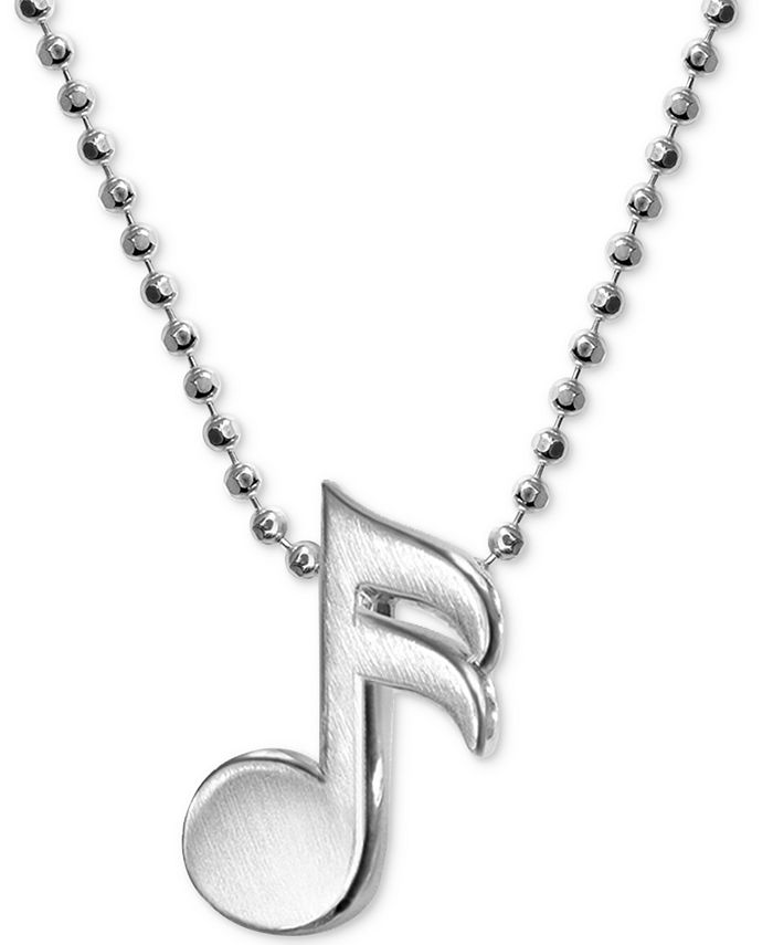 Alex Woo - Music Note Necklace in Sterling Silver