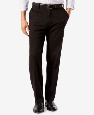 Dockers Men/'s Classic Fit Easy Khaki Pants 36x29 Black NEW