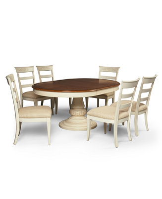 Furniture 7 Piece Set Table And 6 Side Chairs Furniture Macy 39 S