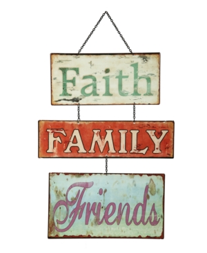 California Floral Wall Decor, Faith Family Friends Sign