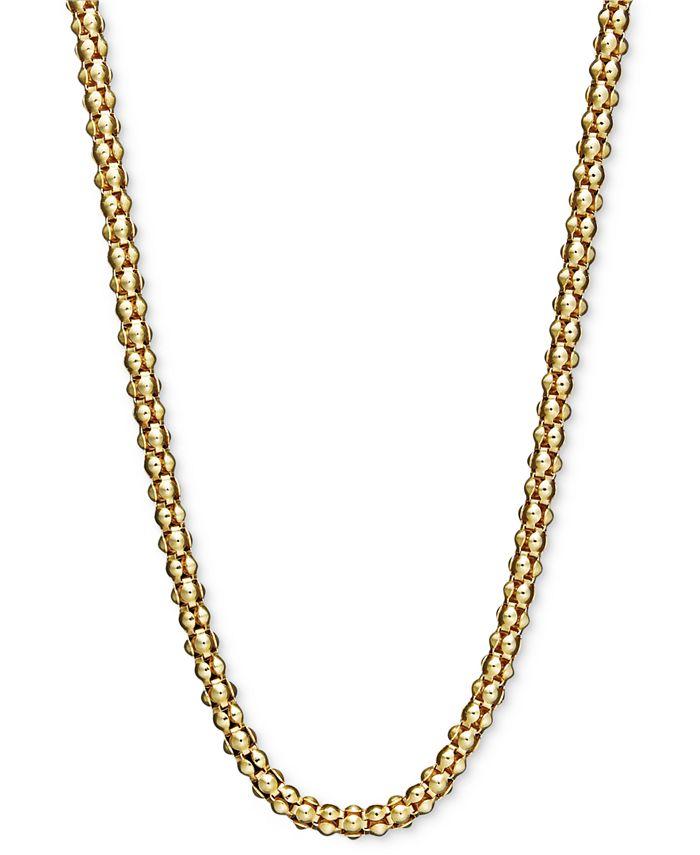 "Macy's - 14k Gold Necklace, 24"" Gauge Popcorn Chain"