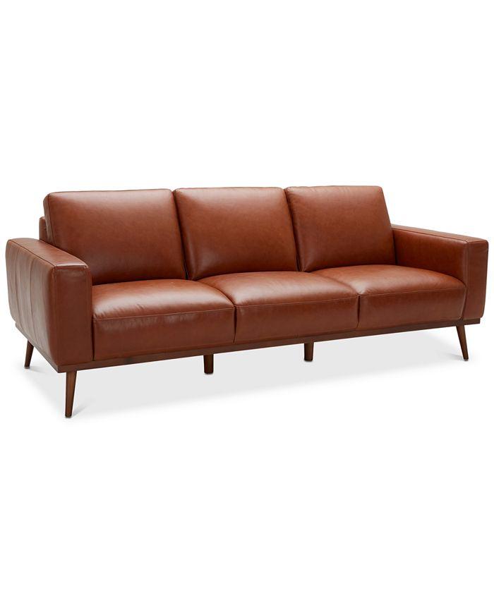 Furniture - Marsilla Leather Sofa, Created for Macy's