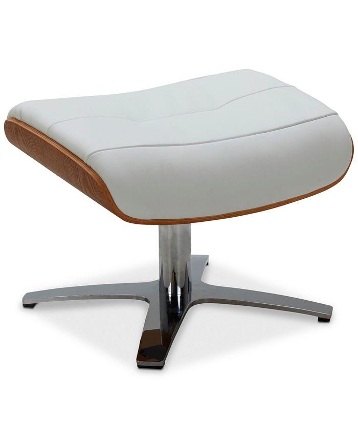 Furniture - Anniston Leather Swivel Ottoman