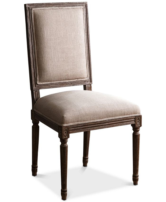 Abbyson Living - Gabriella Rectangle Back Dining Chair, Quick Ship