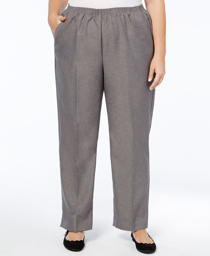 Alfred Dunner - Plus Size Pull-On Straight-Leg Pants