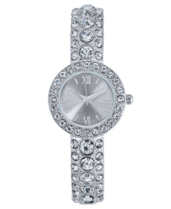 Charter Club - Women's Silver-Tone Bracelet Watch 25mm