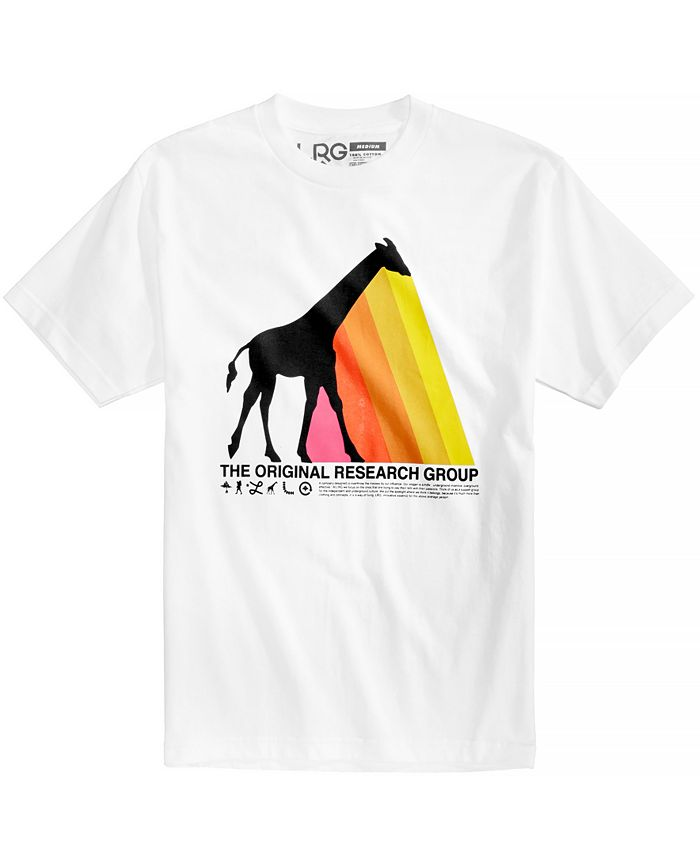 LRG - Men's Giraffe Prism Logo-Print T-Shirt