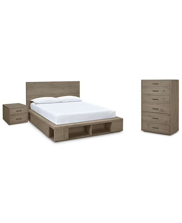 Furniture - Brandon Storage Platform Bedroom , 3-Pc. Set (California King Bed, Chest & Nightstand), Created for Macy's