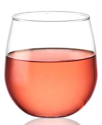 CLOSEOUT! The Cellar Everyday Stemless Red Set of 4 Wine Glasses