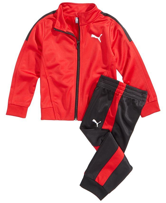Puma - 2-Pc. Track Jacket & Pants Set, Little Boys (2-7)