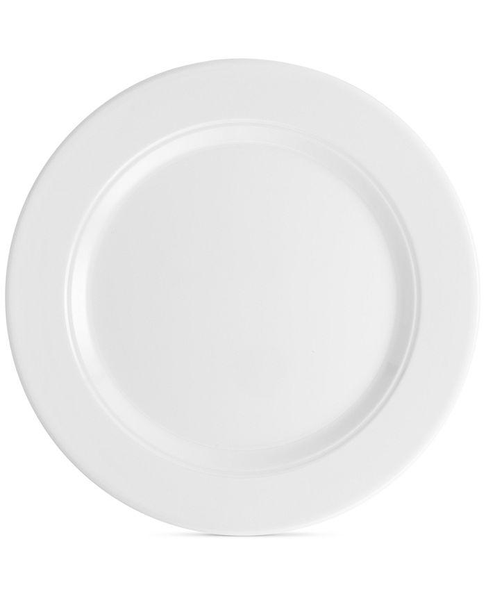 "Q Squared - Diamond 10.5"" Round Melamine Dinner Plate, Set of 4"