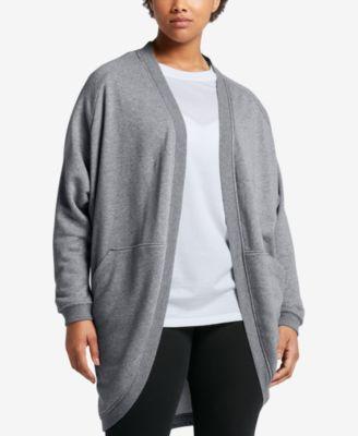 Nike Plus Size Sportswear Open Cardigan
