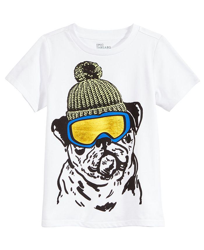 Epic Threads - Snow Dog Graphic-Print T-Shirt, Little Boys (2-7)