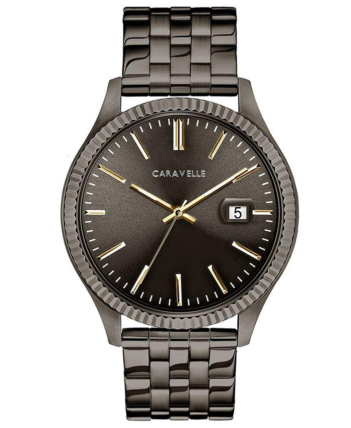 Caravelle - Men's Gunmetal Stainless Steel Bracelet Watch 41mm