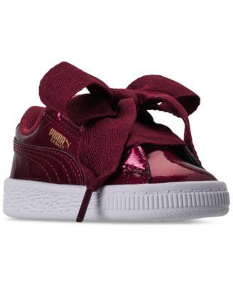 Puma Toddler Girls' Basket Heart Glam