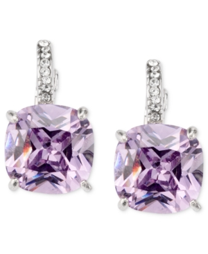 City by City Earrings, Amethyst Cubic Zirconia Square Drop (13-3/4 ct. t.w.)